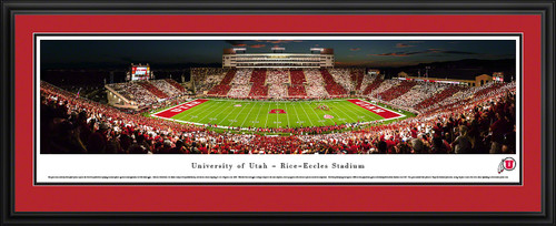 Utah Utes Football Panoramic Print - Rice-Eccles Stadium Stripe Game
