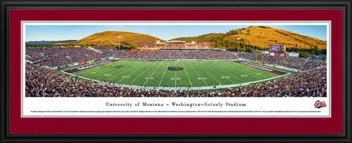 Montana Grizzlies Panoramic - Washington-Grizzly Stadium Picture