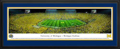 Michigan Wolverines Football Panoramic - Under the Lights