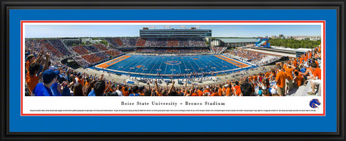 Boise State Broncos Football Panoramic - Bronco Stadium Picture