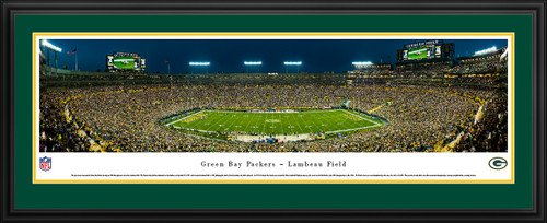 Green Bay Packers Panoramic Picture - Lambeau Field at Night