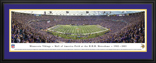 Minnesota Vikings Panoramic - Last Game at the Metrodome