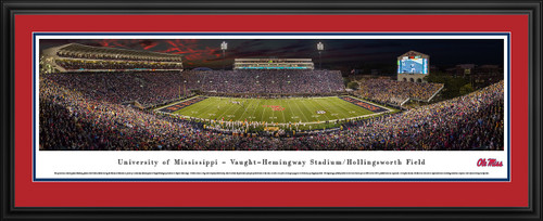 Ole Miss Rebels Panoramic Picture - Vaught-Hemingway Stadium