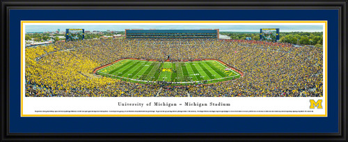 Michigan Wolverines Big House Panoramic Picture - Michigan Stadium