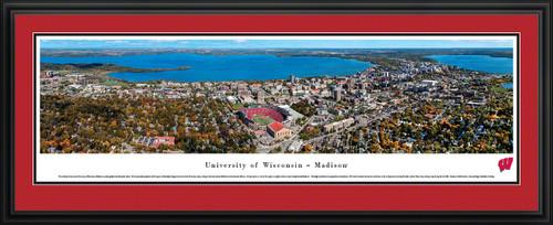 Wisconsin Badgers Panoramic - Camp Randall Stadium Aerial Picture
