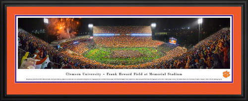 Clemson Tigers Memorial Stadium Football Panoramic Picture