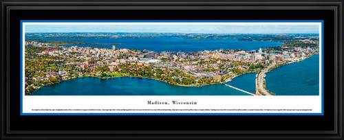 Madison, Wisconsin Skyline Aerial Panoramic Picture
