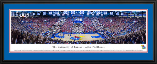 Kansas Jayhawks Basketball Panoramic Picture - Allen Fieldhouse Panorama