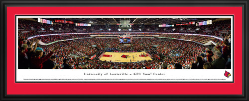 Louisville Cardinals Basketball Panorama - KFC Yum! Center Panoramic Picture