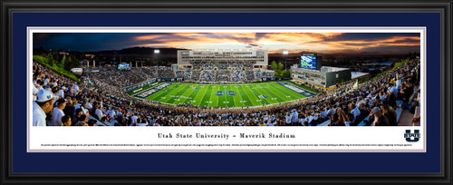 Utah State Aggies Football Panorama - Merlin Olsen Field at Maverik Stadium