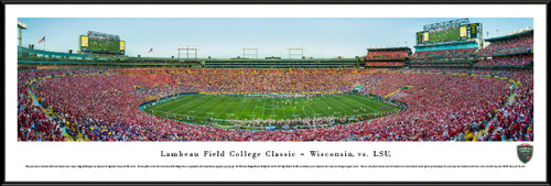 Lambeau Field College Classic - Wisconsin Badgers vs. LSU Tigers Panoramic Picture