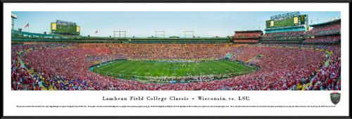 Lambeau Field College Classic - Wisconsin Badgers vs. LSU Tigers Panoramic Picture