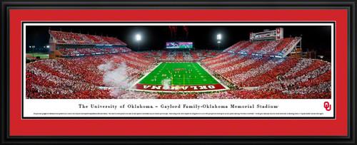 Oklahoma Sooners Panoramic Picture - Gaylord Family Oklahoma Memorial Stadium