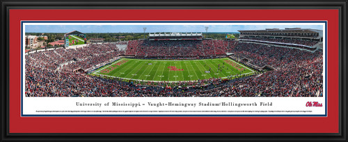 Ole Miss Rebels Mississippi Football Panorama - Vaught-Hemingway Stadium Panoramic Picture