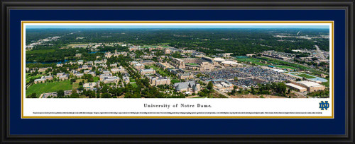 University of Notre Dame Fighting Irish Aerial Panorama  - Notre Dame Stadium