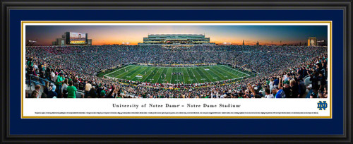 Notre Dame Fighting Irish Football Panoramic Picture - Twilight