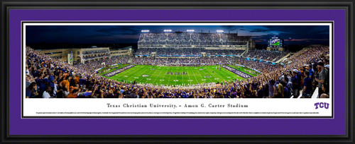 TCU Horned Frogs Football Panorama - Amon Carter Stadium