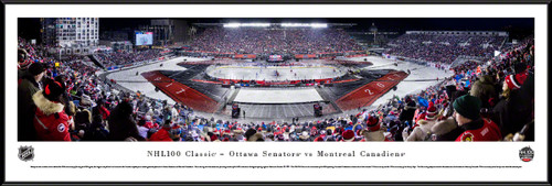 NHL 100 Classic Panoramic Picture - Ottawa Senators vs. Montreal Canadiens