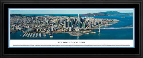San Francisco, California Aerial City Skyline Panoramic Picture