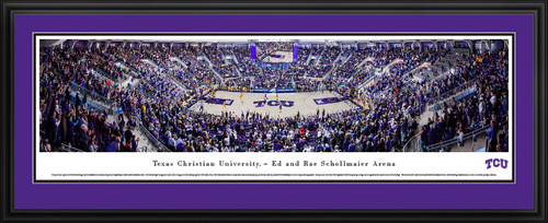 TCU Horned Frogs Basketball Panoramic Picture - Ed & Rae Schollmaier Arena
