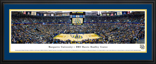 Marquette Golden Eagles Basketball Panoramic Picture - BMO Harris Bradley Center