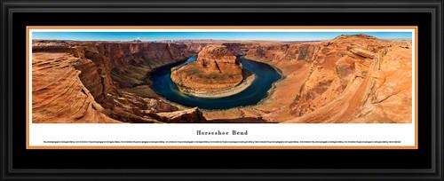 Horseshoe Bend Scenic Panoramic Landscape Print