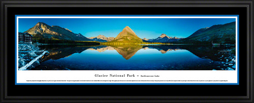 Glacier National Park Panoramic Picture - Swiftcurrent Lake