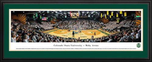 Colorado State Rams Volleyball Panoramic Picture - Moby Arena Fan Cave Decor