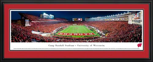 Wisconsin Badgers Football Fan Cave Wall Decor - Camp Randall Stadium Panorama