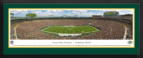 Green Bay Packers Panorama - Lambeau Field Fan Cave Wall Decor