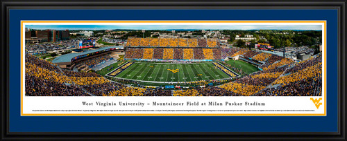 West Virginia Mountaineers Football Panoramic Picture - Mountaineer Field at Milan Puskar Stadium