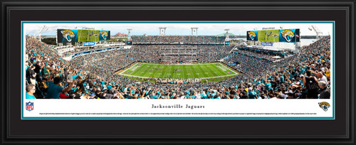 Jacksonville Jaguars Panoramic Poster - TIAA Bank Field NFL Fan Cave Decor