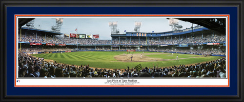 Detroit Tigers Panoramic Picture - Last Pitch at Tiger Stadium MLB Wall Decor