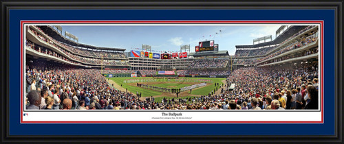 Texas Rangers Panoramic Picture - Rangers Ballpark MLB Wall Decor