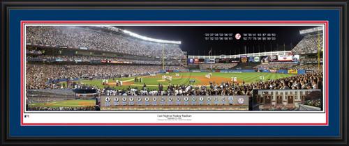 New York Yankees Panorama - Last Night at Yankee Stadium - MLB Wall Decor