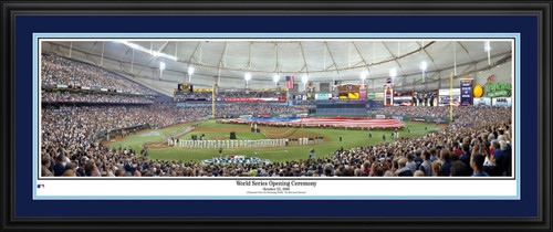 Tampa Bay Rays Panorama - 2008 World Series Opening Ceremony - MLB Wall Decor