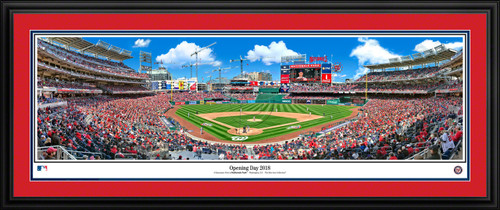 Washington Nationals Panoramic Picture - Opening Day - MLB Wall Decor