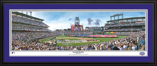 Colorado Rockies Panoramic Picture - Opening Day at Coors Field MLB Wall Decor