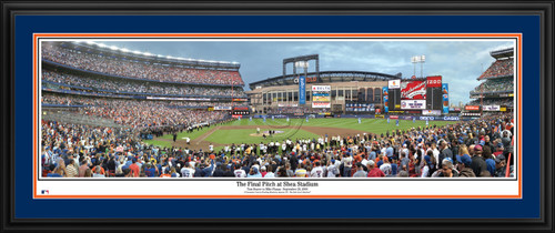 New York Mets Panorama - Final Pitch at Shea Stadium - MLB Wall Decor