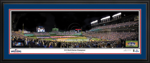 Chicago Cubs Panoramic Picture - 2016 World Series Champions - Wrigley Field MLB Wall Decor