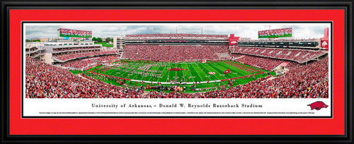 Arkansas Razorbacks Football Poster - Panoramic Wall Decor