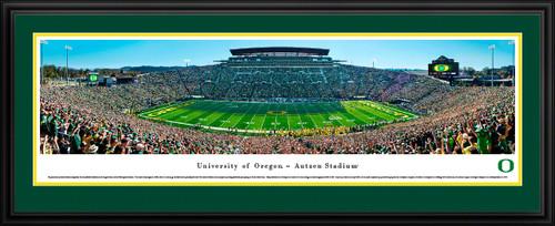 Oregon Ducks 2018 Victory vs. Washington Huskies - Football Panoramic Poster - Autzen Stadium