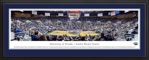 Nevada Wolf Pack Basketball Panoramic Poster