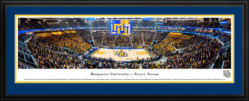 Marquette Golden Eagles Basketball Panoramic Poster