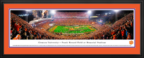 Clemson Tigers Panoramic Football Poster
