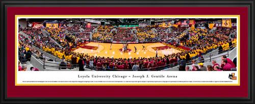 Loyola Ramblers Basketball Panoramic Poster - Joseph J. Gentile Arena Fan Cave Decor