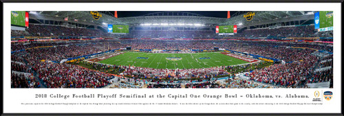 2018 Orange Bowl Game Panoramic Poster - Oklahoma vs. Alabama