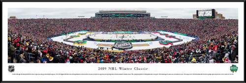 2019 NHL Winter Classic Panoramic Poster - Boston Bruins vs. Chicago Blackhawks