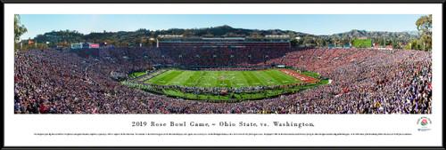2019 Rose Bowl Game - Kickoff Panoramic Poster - Ohio State vs. Washington