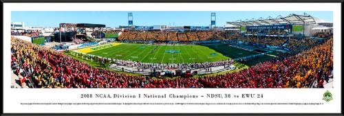 2019 NCAA FCS Football Championship Panoramic Poster - North Dakota State vs. Eastern Washington
